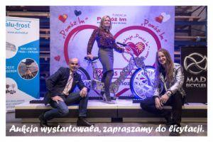 """Licytacja roweru Adama Zdanowicza dla Fundacji """"Pomóż im"""""""